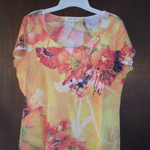 Coldwater Creek bold flowery top